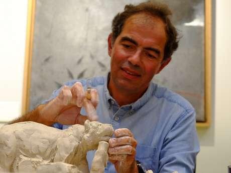 Démonstration du sculpteur Damien Colcombet