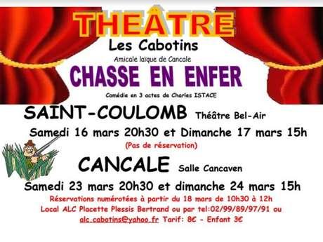"""Théâtre """"Chasse en Enfer"""" par les Cabotins"""