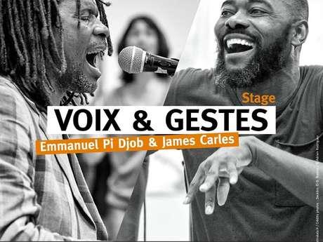 Stage Voix et Gestes avec Emmanuel Pi Djob et James Carlès - Annulé