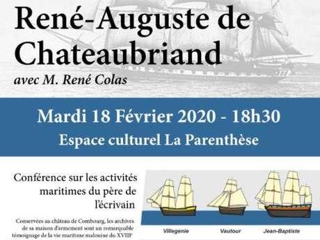 Les archives Maritimes de René-Auguste de Chateaubriand