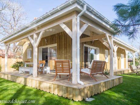 Le Bourdilley : Belle Villa en bois à deux pas du lac d'Hourtin