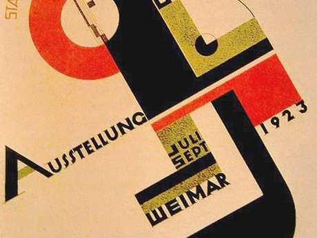Design et anniversaire des 100 ans de la création de l'école du Bauhaus
