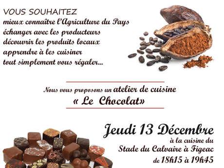 """Atelier de Cuisine, les Passeuses de Goût : """"le Chocolat"""""""
