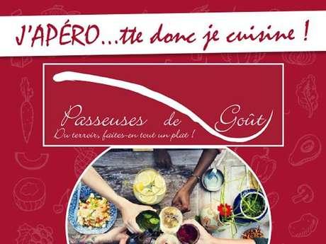 """Atelier de Cuisine, les Passeuses de Goût : """"l'Apéro...toute donc je Cuisine"""""""