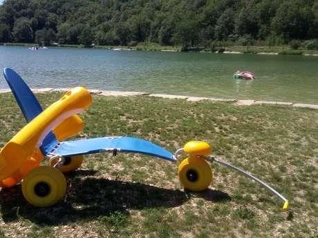 Tiralo au lac de Catus