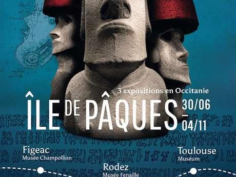 Exposition Temporaire au Musée Champollion « Voyage à l'île de Pâques : un Parcours Muséal en Occitanie ».