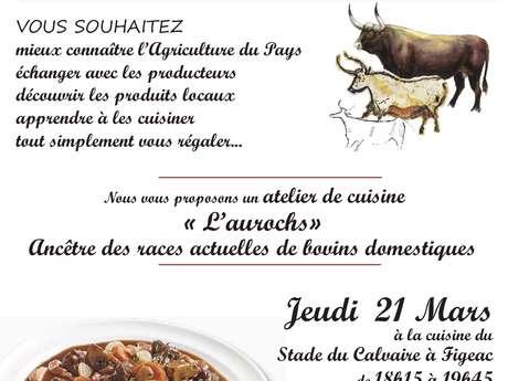 """Atelier de Cuisine, les Passeuses de Goût : """"l'Aurochs"""""""