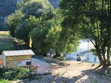 """Base de loisirs """"2 ponts sur Lot"""" - Canoë Kayac, pédalos, barque"""