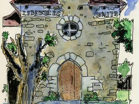 Pays d'Art et d'Histoire : LES ARTS EN BALADE - Atelier de Dessin Dans le Village avec les Carnétistes
