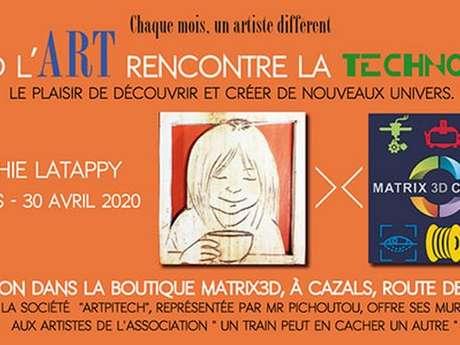 Sophie Latappy Expose Chez Matrix-3D à Cazals