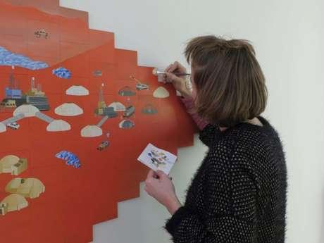"""Visite de L'Exposition """"Planète B"""" avec L'Artiste Junie Briffaz"""