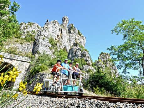 VELORAIL & TRAIN TOURISTIQUE DU LARZAC