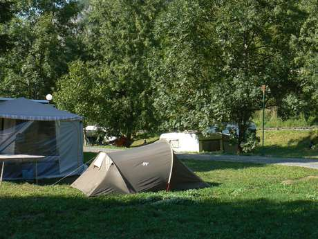 Aire de camping-cars du Gave d'Aspe