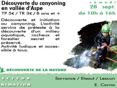 Sortie CPIE - Découverte du canyoning en vallée d'Aspe