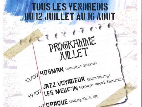 Les Nocturnes de Borce : concert des groupes JAZZ VOYAGEUR et Les MEUF'IN