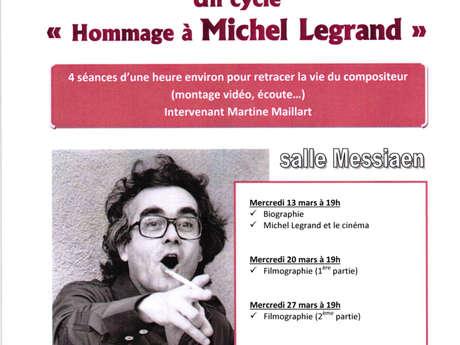 Conférences-hommage à Michel Legrand