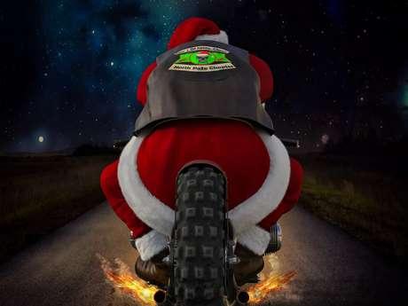 Défilé des Pères Noël à moto