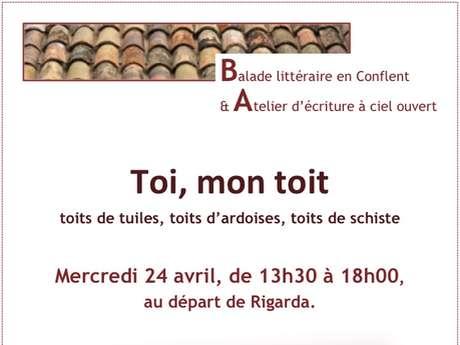 """BALADE LITTERAIRE ET ATELIER D'ECRITURE : """"TOI, MON TOIT"""""""