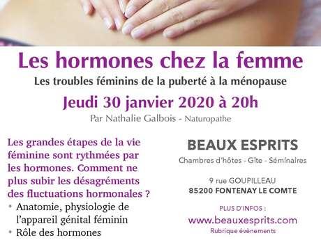 """CAFÉ SANTÉ """"LES HORMONES CHEZ LA FEMME"""""""