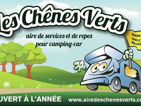AIRE DES CHÊNES VERTS - AIRE DE STATIONNEMENT ET DE SERVICE CAMPING-CAR PRIVÉE