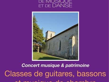"""CONCERT MUSIQUE & PATRIMOINE """"GUITARES, BASSONS ET MUSIQUE DE CHAMBRE"""""""