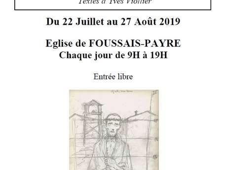EXPOSITION LE CHEMIN DE CROIX DU BON LARRON - DESSINS DE MAURICE DE LA PINTIÈRE ET TEXTES D'YVES VIOLLIER