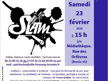 CONCOURS DE SLAM PROPOSÉ PAR VENDÉE-QUÉBEC