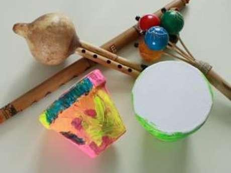 """En avant la musique ! Atelier enfant """"Création d'un instrument de musique"""""""