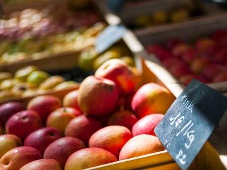 Saturday producers' market in Montauban