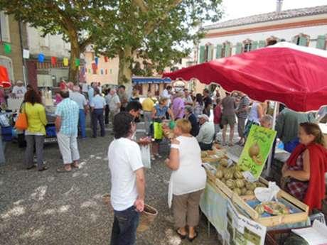 Marché de plein vent à Monclar de Quercy