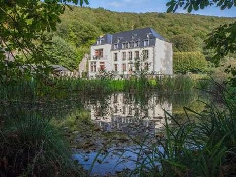 """Domaine """"Château Le Risdoux"""", Château au bord de la Meuse avec la Voie Verte, grand parc et terrain de tennis"""