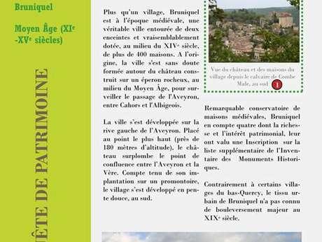 """Fiches découvertes """"En quête de patrimoine"""" du Pays Midi-Quercy"""