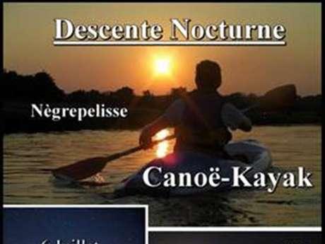 Descente nocturne canoë Nègrepelisse