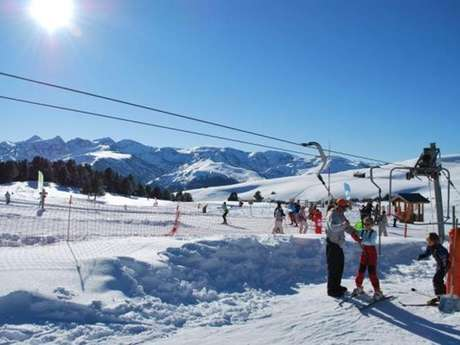 Alpine Skiing at the Nordic Area of Beille