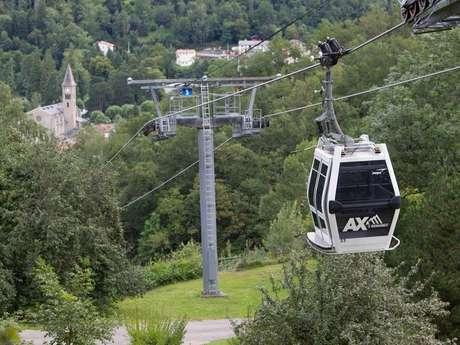 Télécabines entre Ax-les-Thermes et la station Ax 3 Domaines