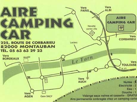 Aire de camping-car route de Corbarieu