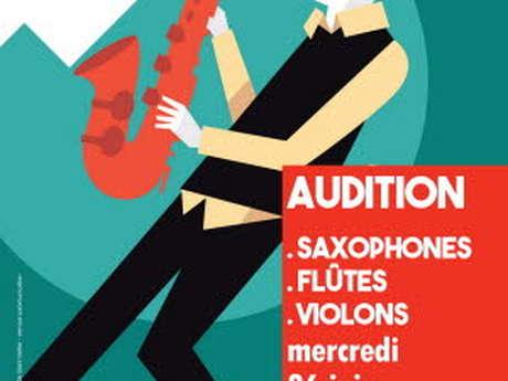 Audition saxophones, flûtes et violons