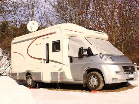 Aire pour camping-car au camping de l'Ourson