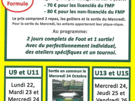 Stage de Football- Catégories U13-U15