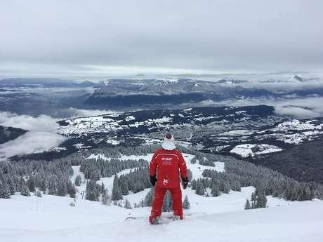 Cours de Snowboard avec l'ESF du Collet