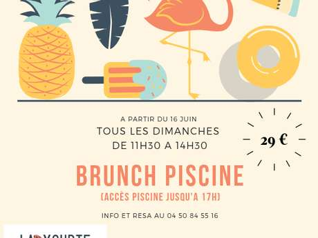 Brunch piscine
