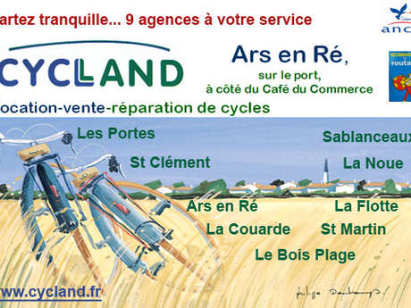 Les locations de v los ars destination le de r office de tourisme - Office tourisme ars en re ...