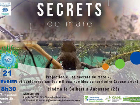 Projection 'Les secrets de mare' et conférence sur les milieux humides du territoire Creuse amont