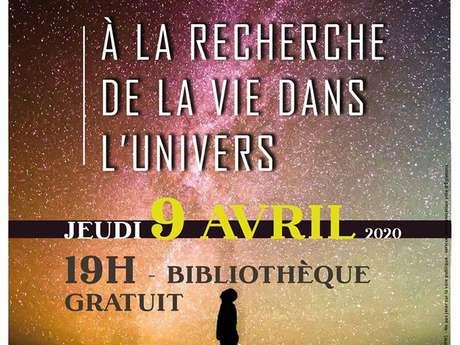 """Conférence """"A la recherche de la vie dans l'univers"""" de Michel Bonavitacola"""
