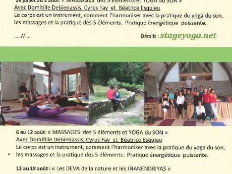 """Stage """"Les DEVA de la nature et les JNANENDRIYAS"""""""
