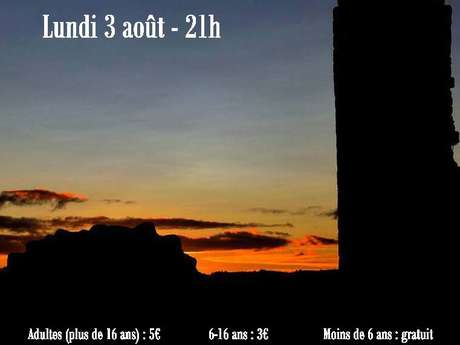 Visite guidée nocturne du château de Ventadour