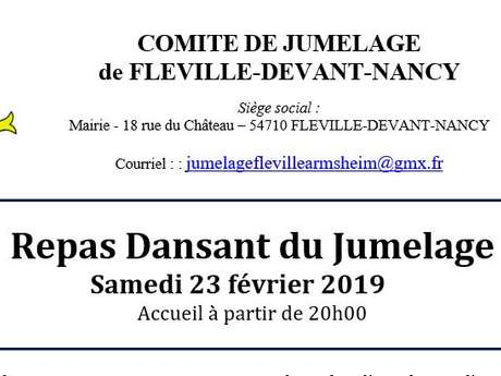 REPAS DANSANT DU COMITÉ DE JUMELAGE DE FLÉVILLE