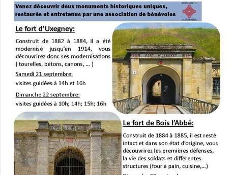 JOURNÉES DU PATRIMOINE AUX FORTS D'UXEGNEY ET DE BOIS L'ABBÉ