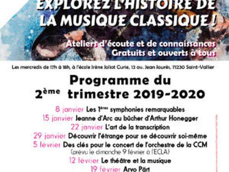 Ateliers d'écoute et de connaissance musique classique