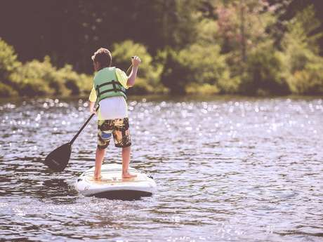 Initiation paddle au Lac de Trémelin
